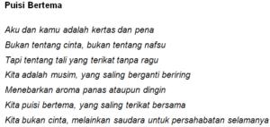 contoh puisi persahabatan