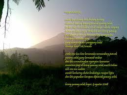 1 puisi keindahan alam