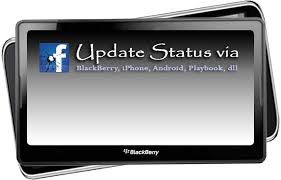 3 update status via blackberry
