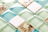 10 Best Sea Glass Backsplash Tile Collections For Amazing in Diy Beach Bathroom Decor