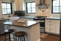 15 Chic Farmhouse Kitchen Design And Decorating Ideas For for Kitchen Art Ideas