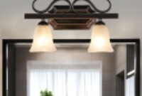 2/3/4 Lights Textured Glass Vanity Light Fixture Traditional pertaining to 4 Light Bathroom Fixture