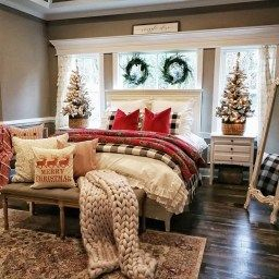 20+ Super Christmas Bedroom Decorations Ideas | Christmas in Christmas Kitchen Decorating Ideas