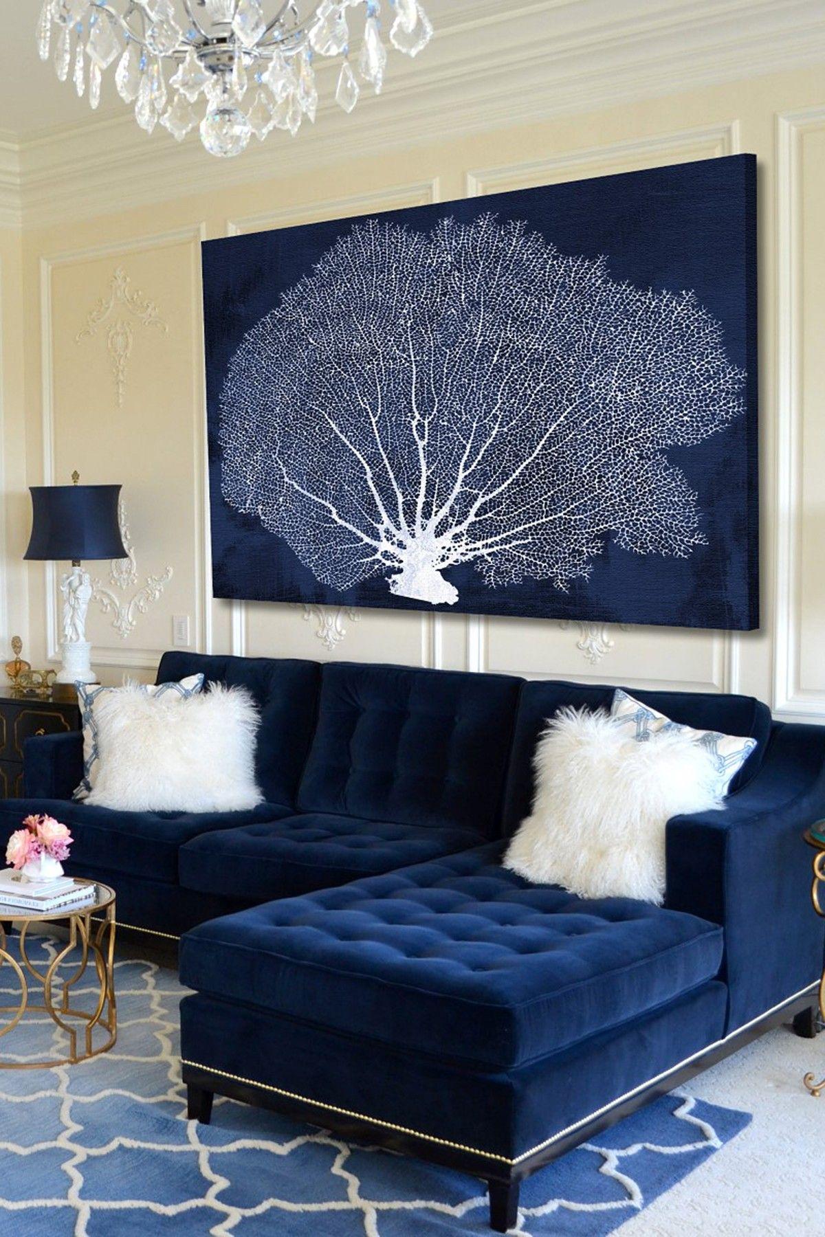 25 Stunning Living Rooms With Blue Velvet Sofas (With Images with Blue Living Room Furniture