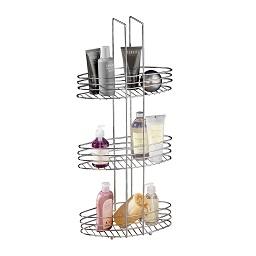 3 Tier Bathroom Storage Rack Oval Shelves - Chrome pertaining to 3 Shelf Bathroom Space Saver