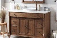 30+ Modern Bathroom Remodel Designs Ideas   Brown Bathroom throughout 48 Inch Bathroom Vanity Without Top