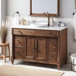 30+ Modern Bathroom Remodel Designs Ideas   Brown Bathroom within Double Sink Bathroom Vanity Decorating Ideas