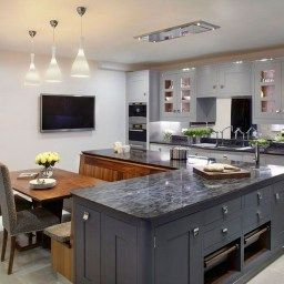 30 Trending Kitchen Island Ideas With Seating   Kitchen for Kitchen Booth Ideas