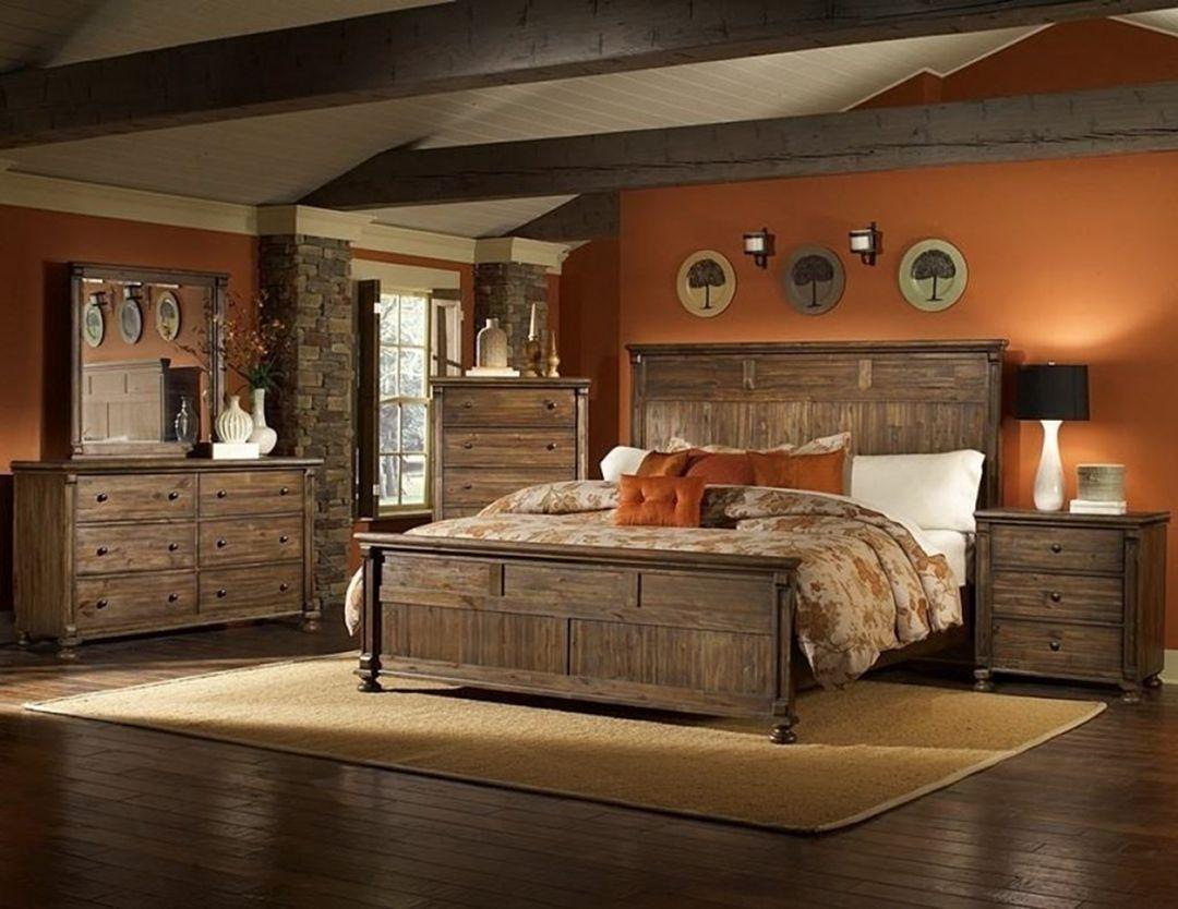 35+ Adorable Rustic Bedroom Design Ideas For Nice Sleep pertaining to Rustic Bedroom Furniture Suites