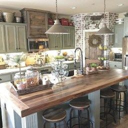 38 Stunning Kitchen Decoration Ideas With Rustic Farmhouse with regard to Farmhouse Kitchen Decor Ideas
