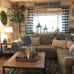 44 Simple Rustic Farmhouse Living Room Decor Ideas | Modern pertaining to Balboa Mist Living Room