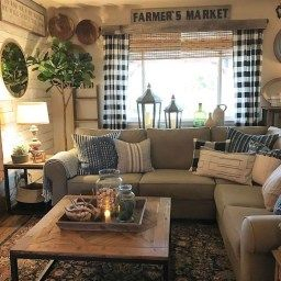 44 Simple Rustic Farmhouse Living Room Decor Ideas with regard to Autumn Color Scheme Living Room