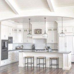 46 Luxury White Kitchen Design Ideas To Get Elegant Look in Corner Kitchen Cabinet Ideas
