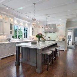 46 Luxury White Kitchen Design Ideas To Get Elegant Look intended for Grey Kitchen Cabinets Ideas
