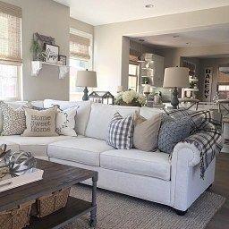 46 Popular Living Room Decor Ideas With Farmhouse Style with Apartment Living Room Decorating Ideas