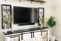 46 Popular Living Room Decor Ideas With Farmhouse Style with regard to Living Room Tv Wall Ideas