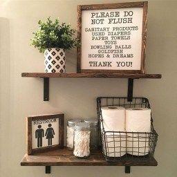 50 Lovely Bathroom Decor Ideas With Farmhouse Style with Small Rustic Bathroom Ideas