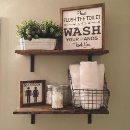 60 Awesome Farmhouse Bathroom Makeover Ideas | Farmhouse within Farmhouse Bathroom Ideas