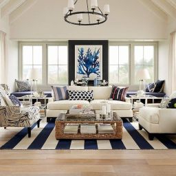 70 Cool And Clean Coastal Living Room Decorating Ideas (With for Coastal Pictures For Living Room