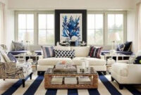 70 Cool And Clean Coastal Living Room Decorating Ideas within Beach Cottage Living Room