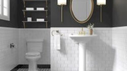 99+ Luxury Black And White Bathroom Ideas (With Images throughout White And Gold Bathroom Ideas