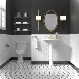 99+ Luxury Black And White Bathroom Ideas (With Images with regard to Gray Subway Tile Bathroom