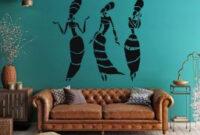 African Women Vinyl Wall Decals Vinyl Decor Wall Decal regarding African Themed Living Room Decor