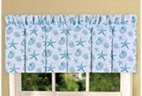 Amazon: C&F Home Cora Blue Valance 15.5X72 - Coastal within Country Kitchen Curtains Ideas