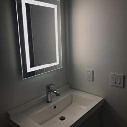Amazon: Customer Reviews: Led Backlit Mirror With Border for 24 Inch Bathroom Mirror