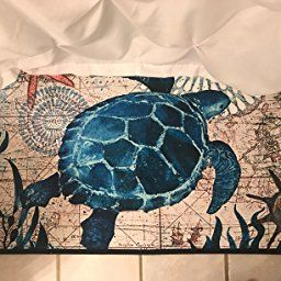 Amazon : Ezon-Ch Modern Non Slip Watercolor Sea World intended for Beach Themed Bathroom Rugs