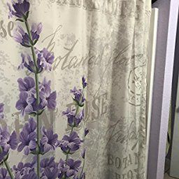 Amazon: Lavender Shower Curtainambesonne, Vintage in Shower Curtain For Small Bathroom
