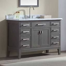 Ari Kitchen And Bath Danny 48 In. Single Bathroom Vanity Set for 54 Bathroom Vanity Single Sink
