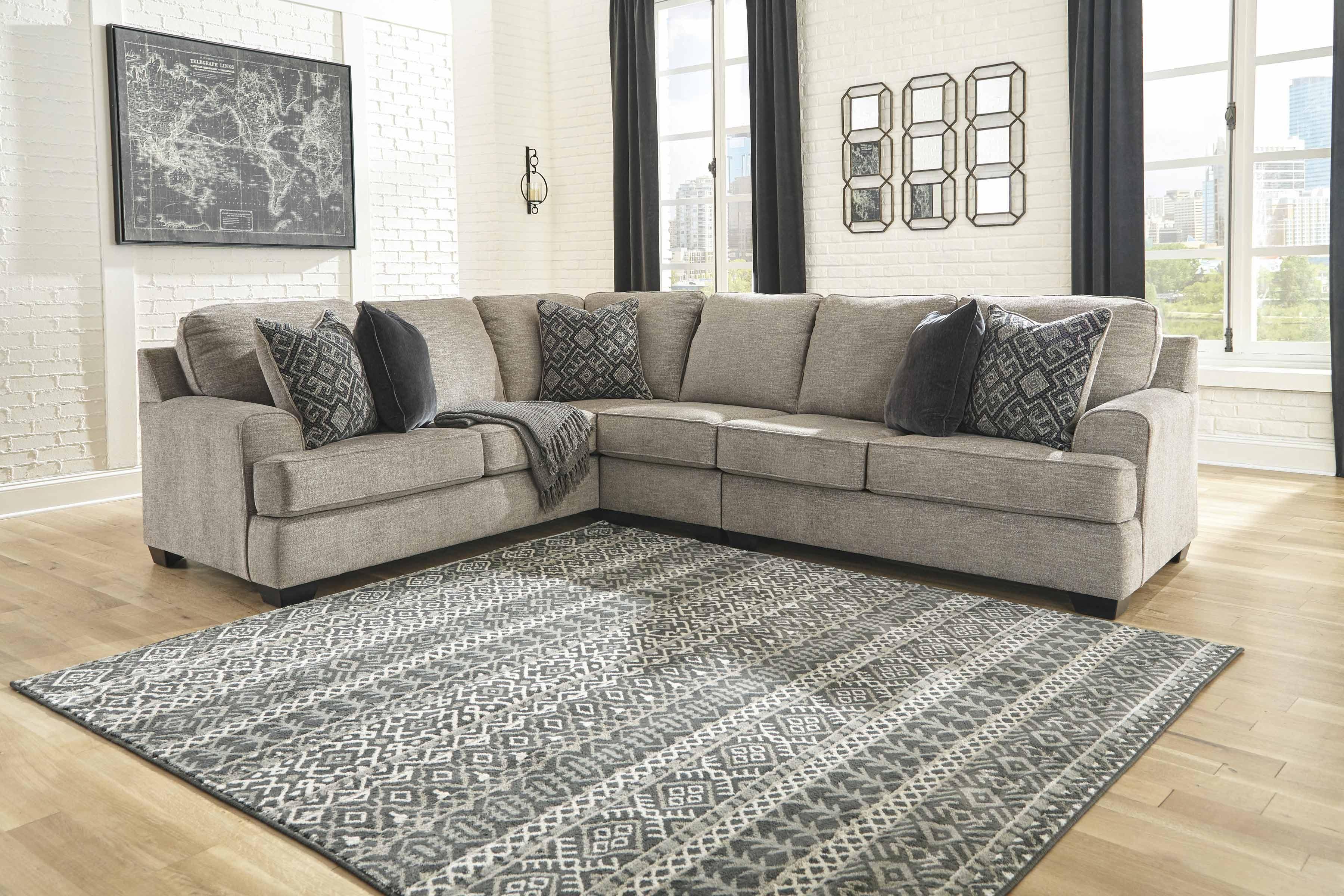 Ashley Furniture Bovarian Laf Sectional In Stone in Ashley Furniture Dallas Tx