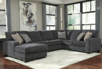 Ashley Furniture Tracling 3 Piece Sectional With Laf Chaise In Slate throughout Ashley Furniture Microfiber Sectional