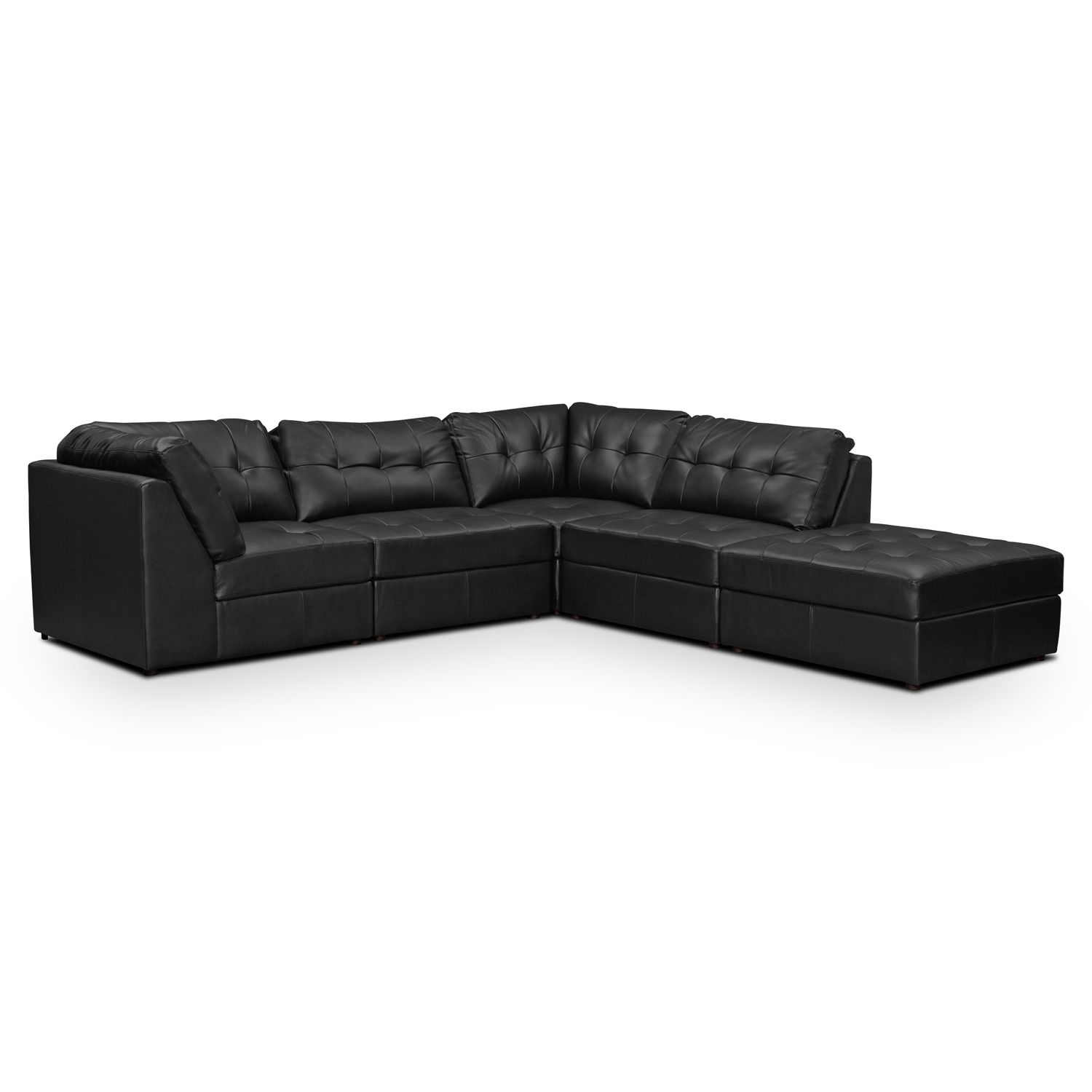 Aventura Leather 5 Pc. Sectional - Value City Furniture in City Furniture Leather Sectional