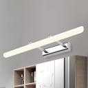 Bedside Bathroom Mirror Wall Lights 8W-16W Black/White pertaining to 5 Light Bathroom Vanity Light