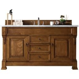 """Brookfield Country Oak 60"""" Single Vanity Cabinet (With pertaining to Solid Wood Bathroom Vanities Without Tops"""