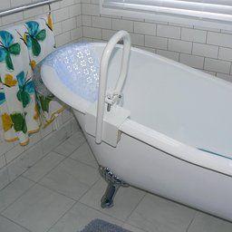 Carex White Bathtub Rail | Bathtub, Tub, Bathroom intended for 1 2 Bathroom Ideas
