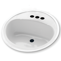 """Chadwell Supply. 18"""" Round Lavatory Sink Porcelain On Steel inside Bathroom Sink Drain Size"""
