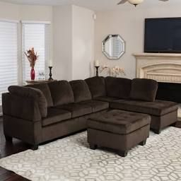 Christopher Knight Home Canterbury 3-Piece Fabric Sectional in 3 Piece Leather Living Room Set