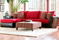 Cordova Left-Arm Regular Sleeper Sofa And Right-Arm Facing regarding Red And Brown Living Room Decor