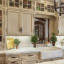 Creamwhite Cabinets Design, Pictures, Remodel, Decor And inside Kitchen Cabinet Handle Ideas