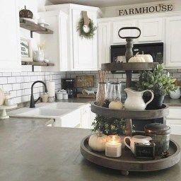 Cute Rustic Farmhouse Home Decoration Ideas 35   Rustic regarding Farmhouse Kitchen Ideas On A Budget