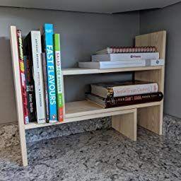 Desktop Shelves Bookshelf Desk Organizer Adjustable throughout Diy Kitchen Storage Ideas
