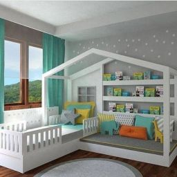 Easy Ways To Design And Decorate A Kids' Room (2   Cool in Gray And Turquoise Living Room