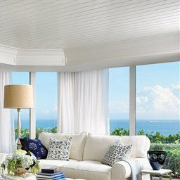 Elegant Beachy Living Room | Living Rooms | Luxe Source with regard to Beach Curtains For Living Room