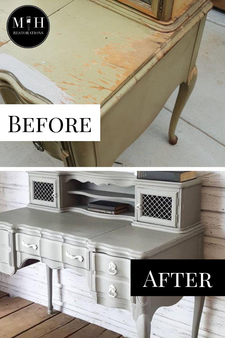 Full Tutorial On Water-Damaged Desk Makeover throughout Damaged Furniture For Sale