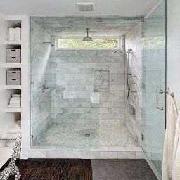 Master Bathroom Walk In Shower Ideas | Bathroom Remodel Cost with 18 Deep Bathroom Vanity