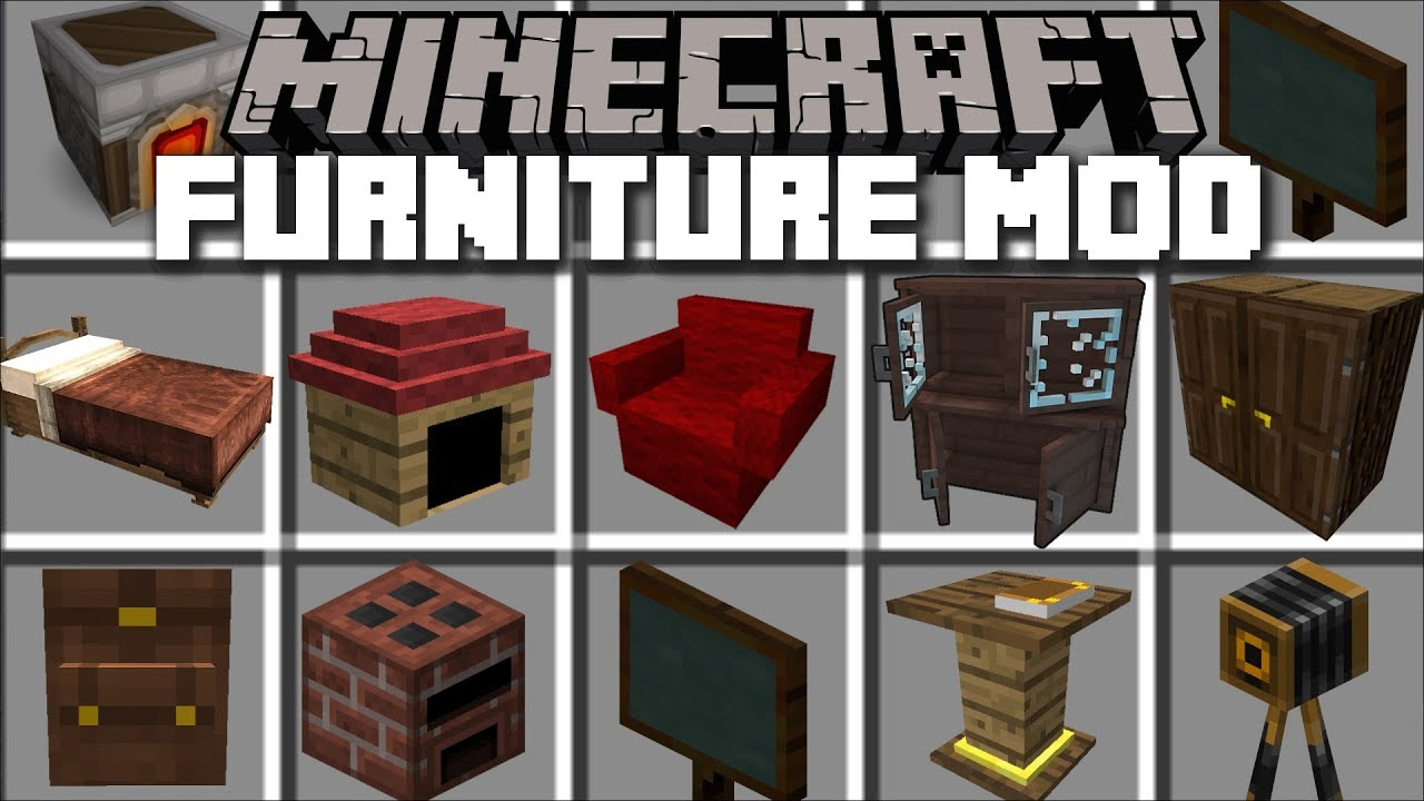 Mrcrayfish'S Furniture Mod 1.15.2/1.14.4 (Best Furniture Mod pertaining to Furniture Mod 1.12