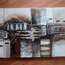 Noah Art-Black And White Abstract Art, 100% Hand Painted throughout Abstract Art For Living Room